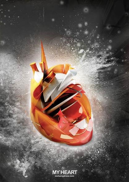پوستر قلب من