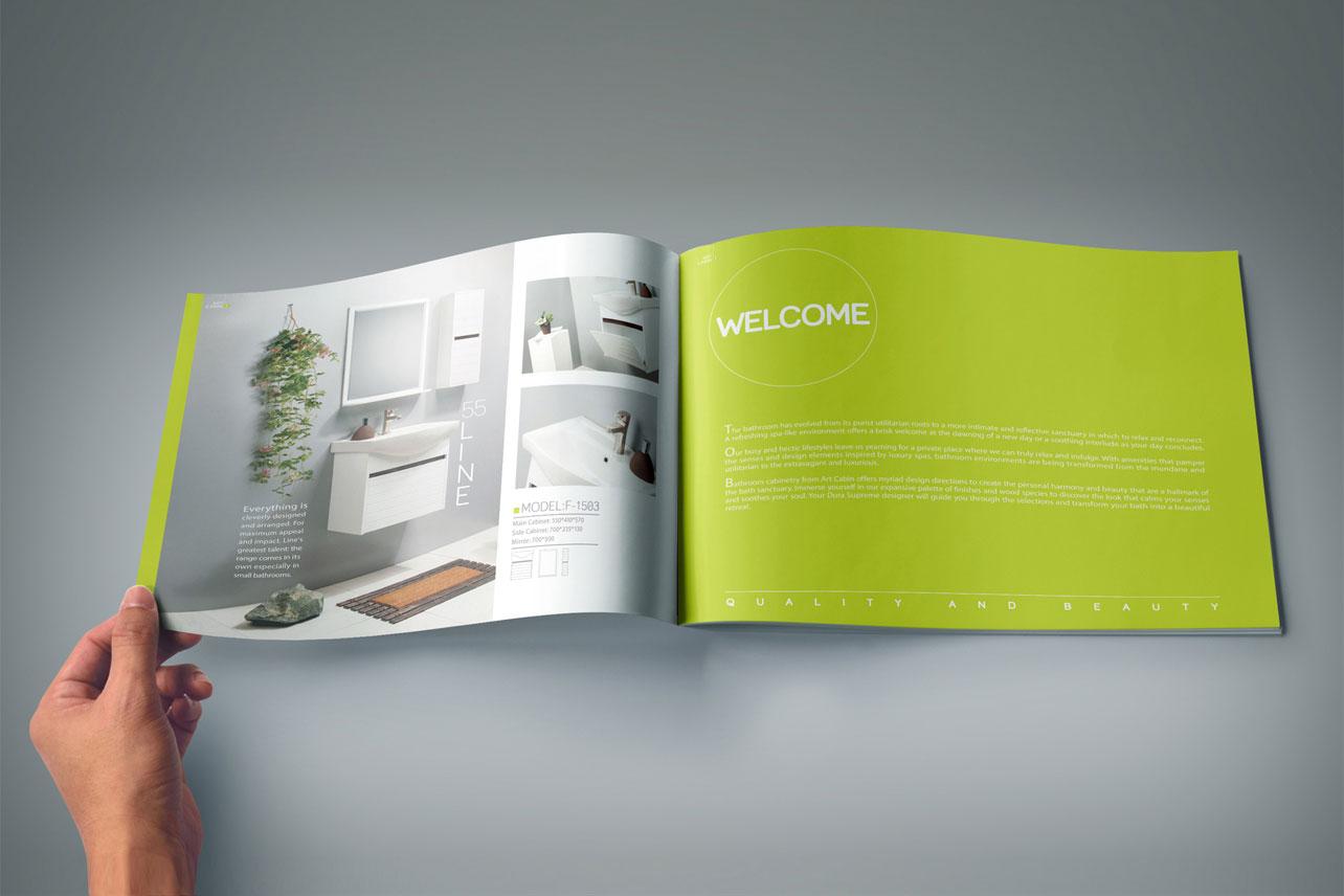 طراحی کاتالوگ آرت کابین