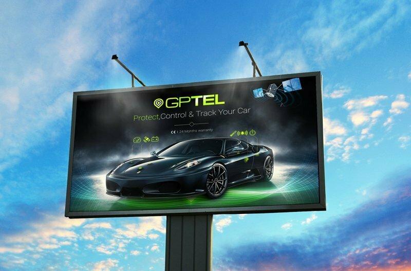 طراحی پوستر و بیلبورد شرکت خدمات اتومبیل جی پی تل (Gptel)
